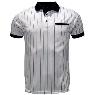 Arnold palmer mens baseball stripe polo shirt van kantoor artikelen tip.