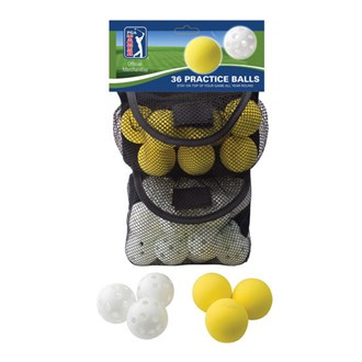 pga tour 36 indoor & outdoor practice balls