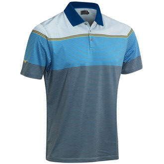 Mizuno Mens Midi Stripe Cotton Polo Shirt