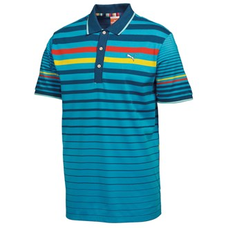 Puma Golf Boys Stripe Polo Shirt