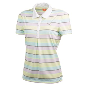 Puma ladies roadmap stripe polo shirt