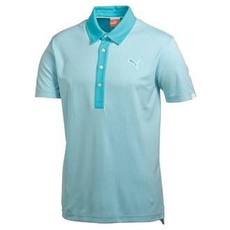 Puma mens jaquard pattern polo shirt