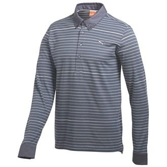 Puma mens long sleeve yarn dye polo shirt