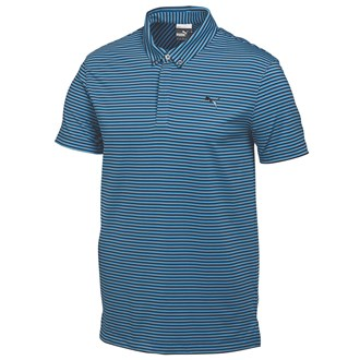 Puma mens lux yarn dye stripe polo shirt 2015