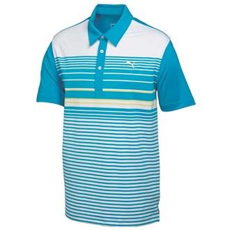 Puma Golf Mens Yarn Dye Stripe Polo Shirt 2015
