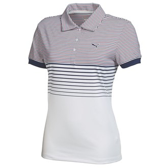 Puma ladies double stripe polo shirt