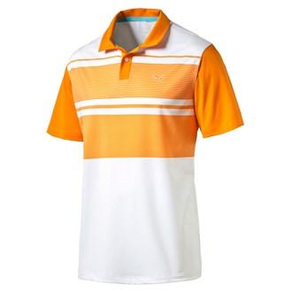 Puma mens pwrcool pattern block polo shirt