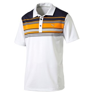 Puma mens key stripe polo shirt