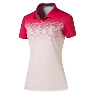 Puma ladies colourblock fade polo shirt