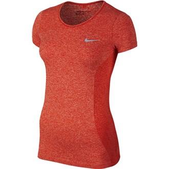 Nike ladies dri fit knit short sleeve top