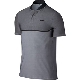 Nike mens mm fly swing knit block alpha polo shirt