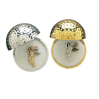 Navika Twotone Golfing Angel Pin With A Premium Golf Ball Jewel Box