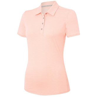 adidas ladies essentials heather short sleeve polo shirt