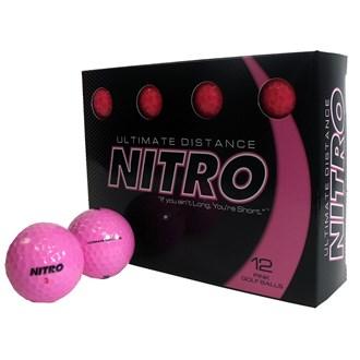 nitro ultimate distance pink balls (12 balls)