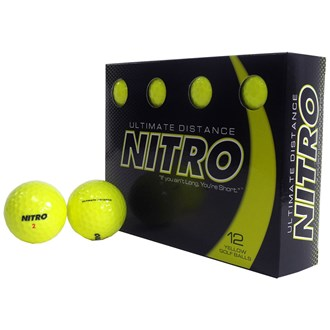 nitro ultimate distance yellow balls (12 balls)