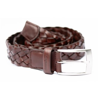 Stromberg woven leather belt van kantoor artikelen tip.