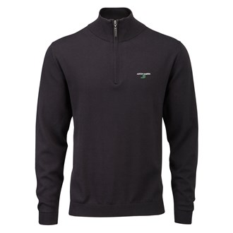 Aston Martin Collection Mens Cotton Zip Golf Pullover 2014