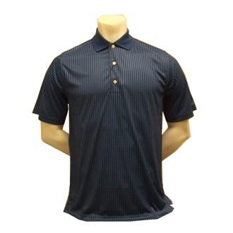 Greg norman mens mini check printed polo shirt