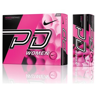 nike ladies power distance pd9 pink balls (12 balls)