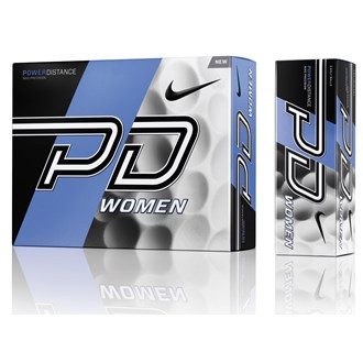 nike ladies power distance pd9 white balls (12 balls)