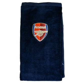 arsenal football club tri fold towel