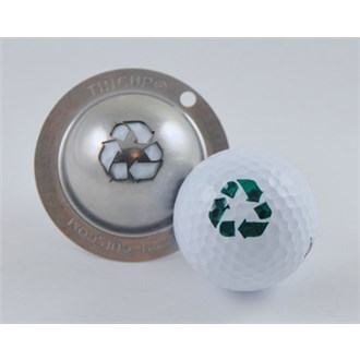 Tin cup ball marker   go for the green