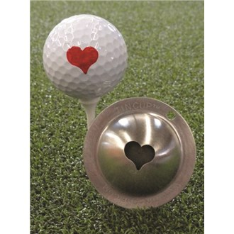 Tin cup ball marker   kiss me