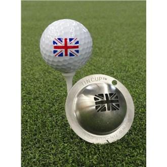 Tin cup ball marker   union jack van kantoor artikelen tip.