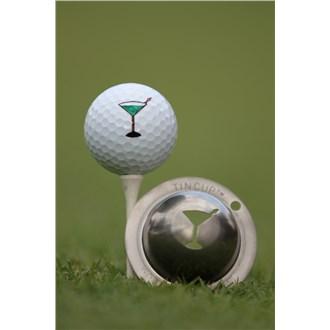 Tin Cup Ball Marker  5 Oclock Somewhere