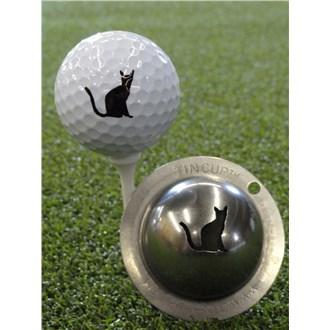 Tin Cup Ball Marker  Nine Lives