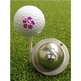 Tin cup ball marker   aloha
