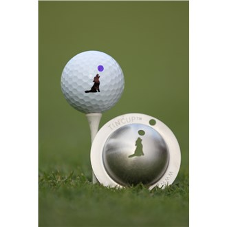 Tin cup ball marker   howl at the moon