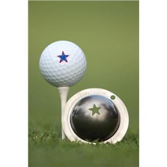 Tin cup ball marker   lone star