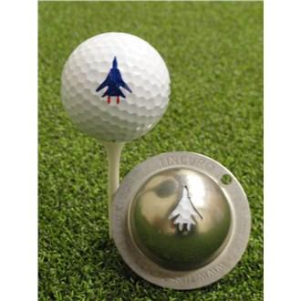 Tin cup ball marker   top gun