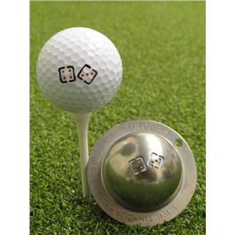 Tin cup ball marker   true roll