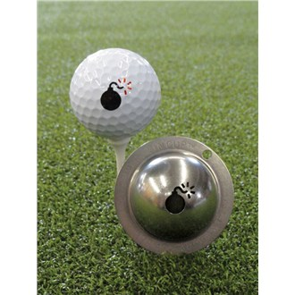 Tin cup ball marker   bombs away