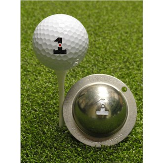 Tin Cup Ball Marker  Hole in One