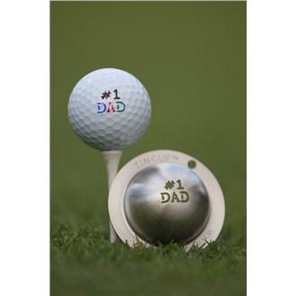 Tin cup ball marker   number 1 dad van kantoor artikelen tip.