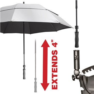 bagboy uv wind vent 62 inch double canopy umbrella