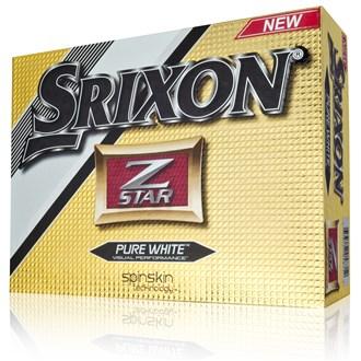 Srixon z star pure white balls (12 balls)