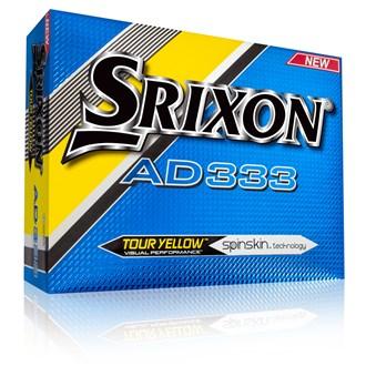 srixon ad333 yellow balls (12 balls) 2016