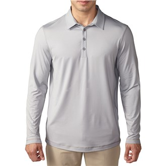 adidas mens climacool upf long sleeve polo shirt