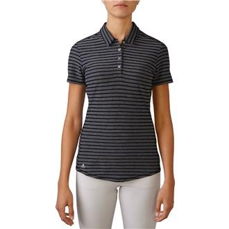adidas ladies climacool mesh stripe polo shirt