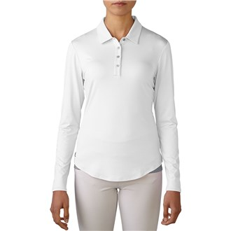 Adidas ladies essentials 3 stripes long sleeve polo shirt