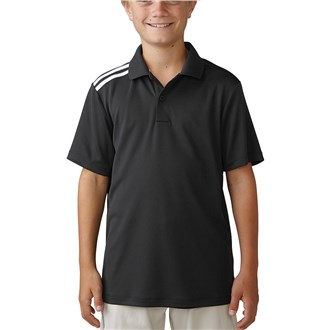 adidas boys climacool 3 stripes polo shirt
