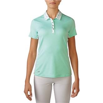 adidas ladies advance bonded mesh mix polo shirt