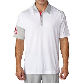 adidas mens climacool sleeve blocked polo shirt