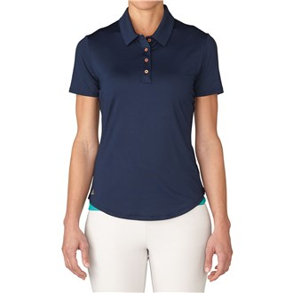 adidas ladies essentials 3 stripes short sleeve polo shirt 2016