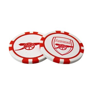 arsenal poker chip ball marker set