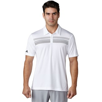 adidas mens climacool chest print polo shirt